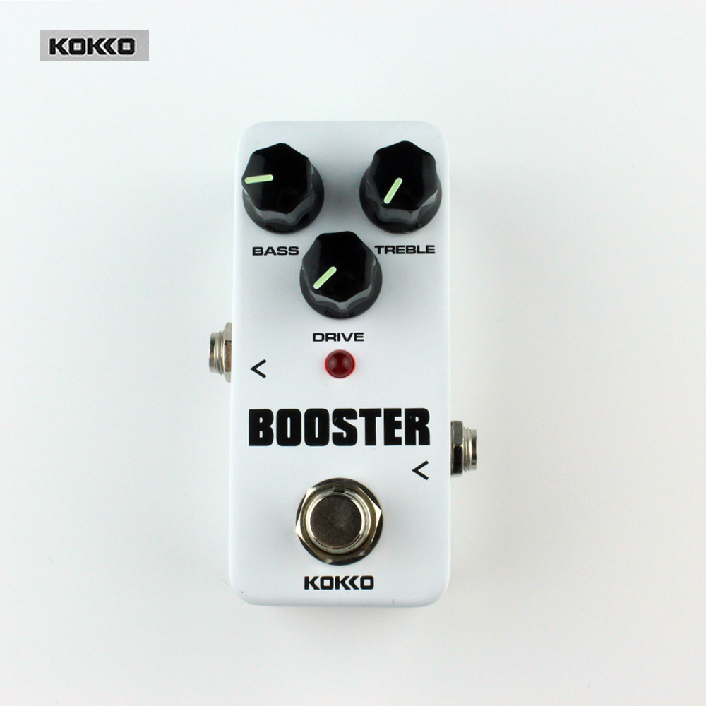 Kokko FBS2 Mini Booster Guitar Effect Pedal/Protable 2-Band EQ,High Quality Guitar Effect Pedal/Guitar Accessories 5pcs eno tc 16 mini guitar effect pedal over drive