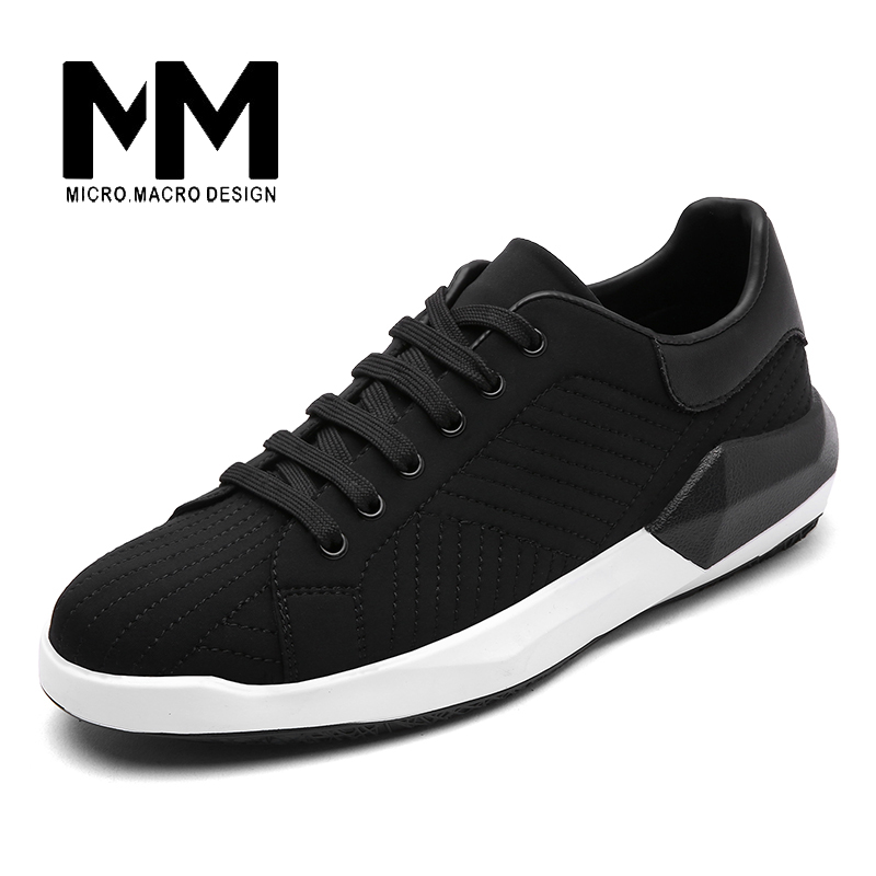 MICRO. MACRO Men Casual Shoe 2017 Spring New Design Light weight Breathable Comfortable Pig Suede shoe Flats men shoe 1704 micro micro 2017 men casual shoes comfortable spring fashion breathable white shoes swallow pattern microfiber shoe yj a081