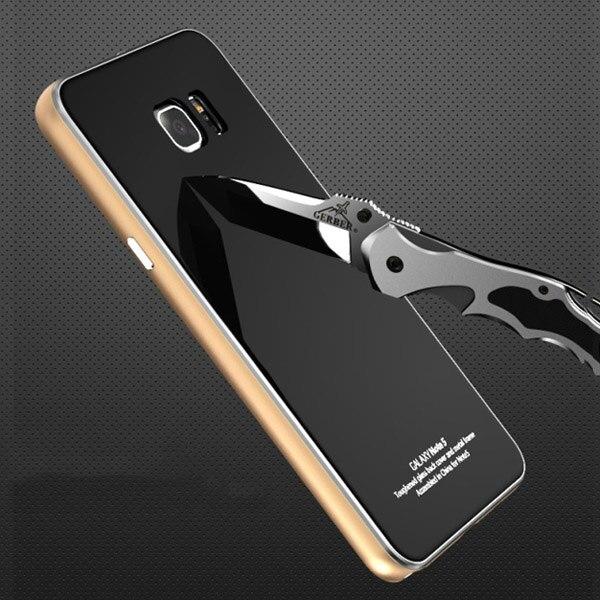 bilder für Ursprüngliche Luphie Metall Fall Für Samsung Galaxy Note 5 N920 Luxus Aluminiumrahmen + Gehärtetes Glas Schutzhülle