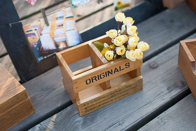 Zakka Grocery Wooden Brush Pot Craft Accessories Wooden Box Home Magnificent Small Wooden Boxes To Decorate