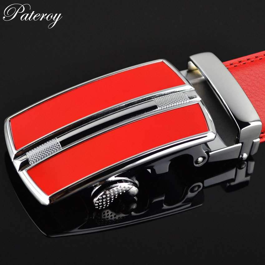PATEROY Leather Belt Mens