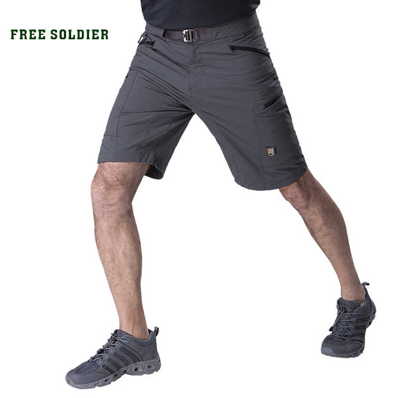 9b8de6740e2 FREE SOLDIER outdoor tactical military men s short pant for camping climbing  thin and quick-drying