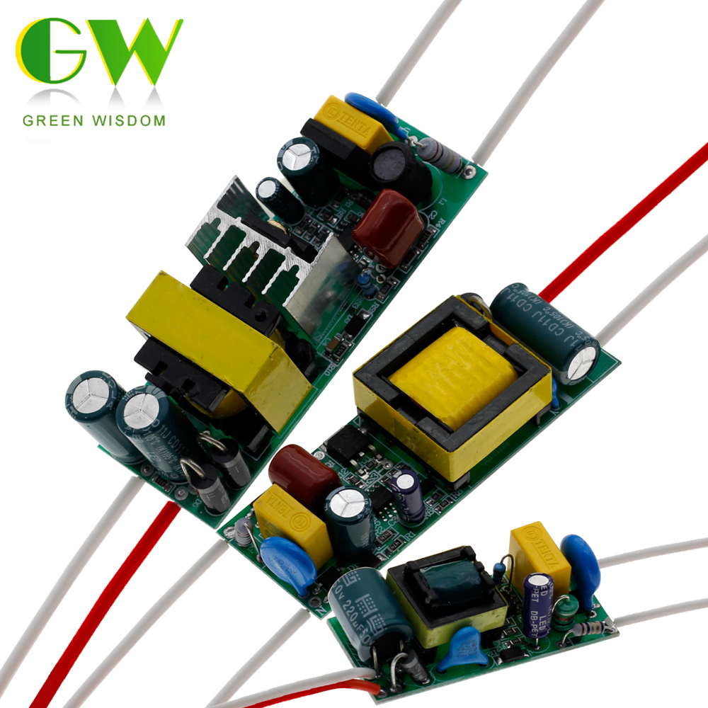 LED Driver 300mA Input AC90-265V Power Supply Built-in Constant Current 3W 7W 12W 18W 25W 36W 40W 50W Lighting Transformers 11 18w led constant current source power supply driver yellow green ac 85 277v
