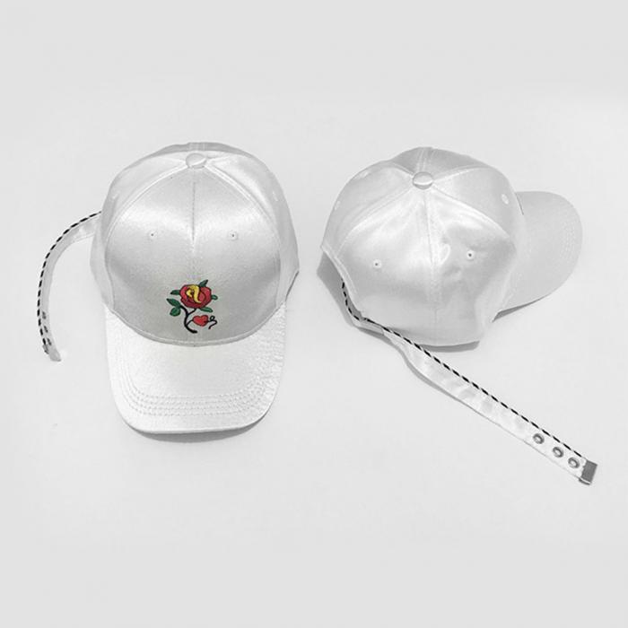 fc7d4875b4c Fashion Korean Summer Men And Women Baseball Cap Rose Flower ...