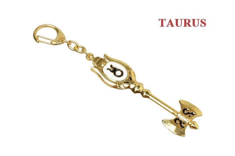 Модный Сказочный хвост, Зодиак, звезда, дух волшебника, Lucy, вызовет ключ, 12 ключей, брелок для ключей «Созвездие», косплей, подарок
