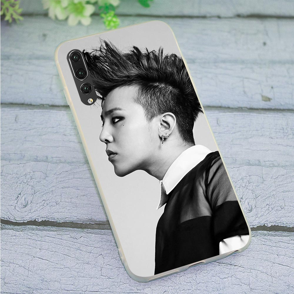 TPU Phone Case for Huawei P20 Pro Cover P8 P9 P10 M20 Lite P30 Pro P Smart Mate 10 20 Pro G-DRAGON <font><b>BIGBANG</b></font> GD image