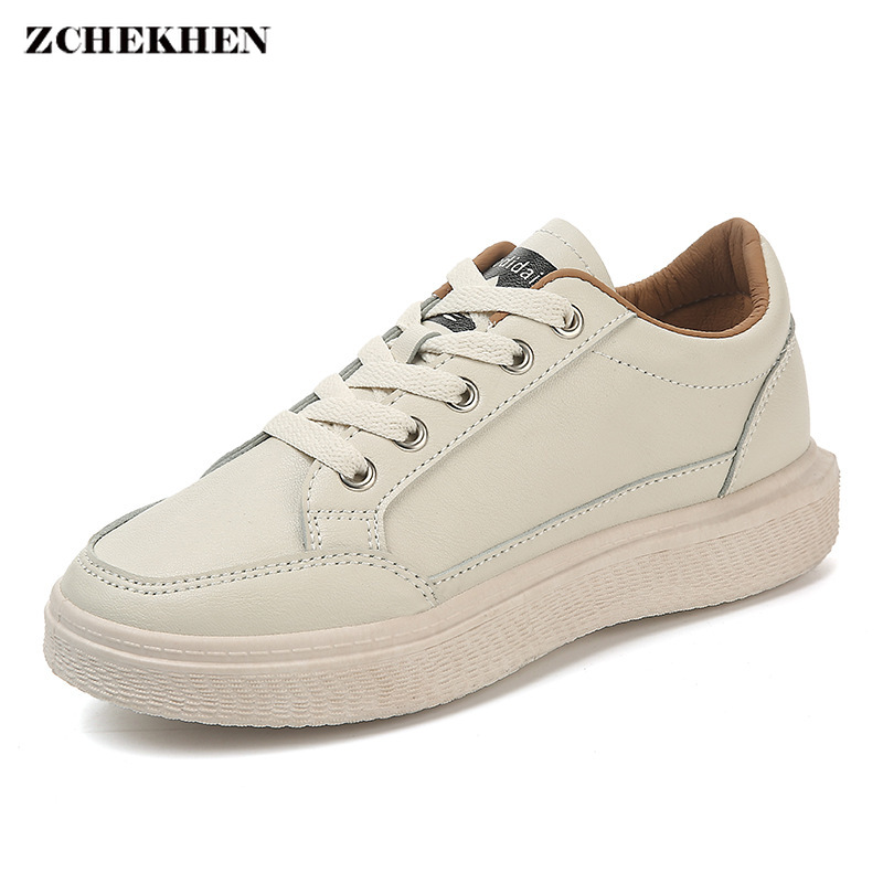 0b9f2f74385983 Femmes Mode 2019 Plate Blanc Sneakers Femme Chaussures Printemps Panier  forme Respirant Casual Chaussure Confortable rrfT0