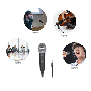Image 3 - Professional Condenser Microphone MikrofonStudio Recording Mic Microphones with Mini MIC Stand for iPhone Laptop PC Tablet