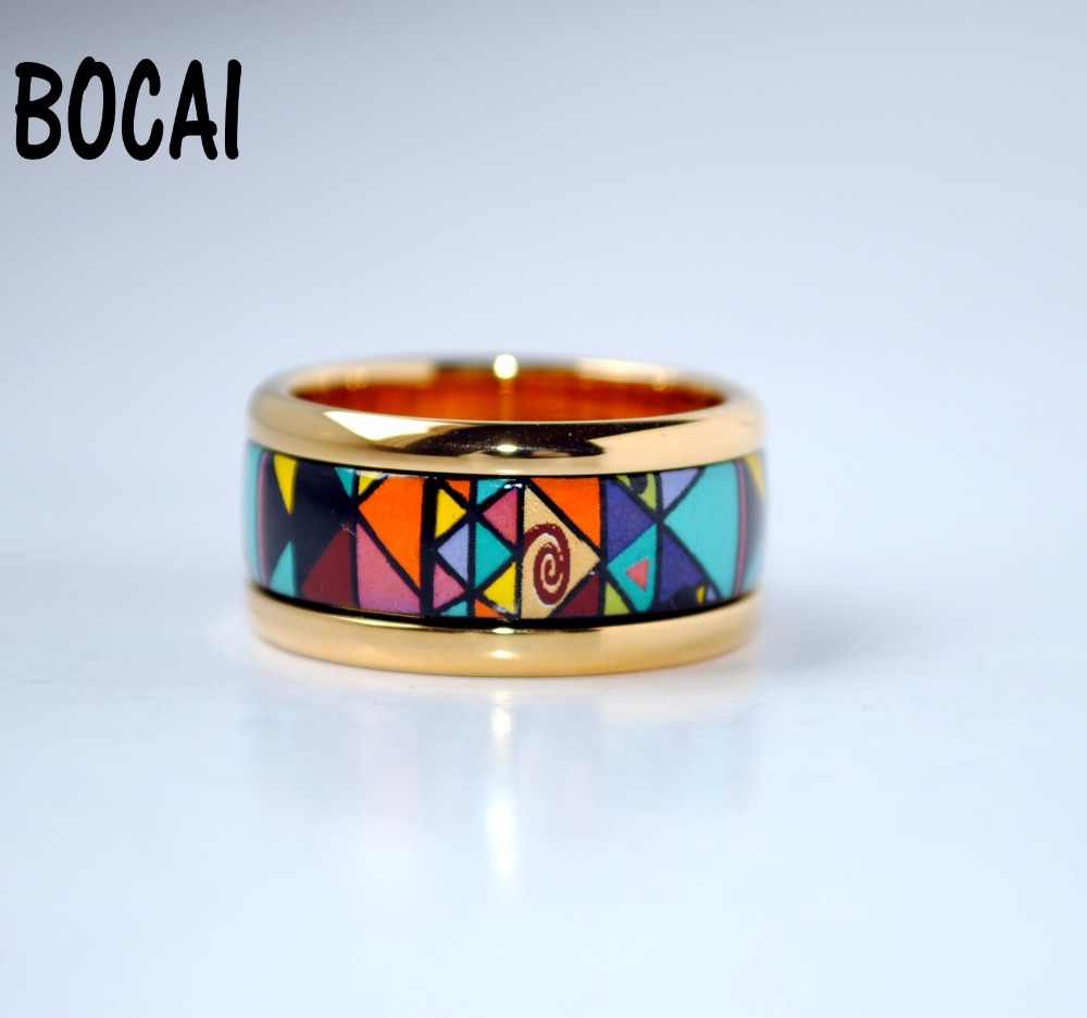 Cloisonne jewelry enamel round ring European and American style