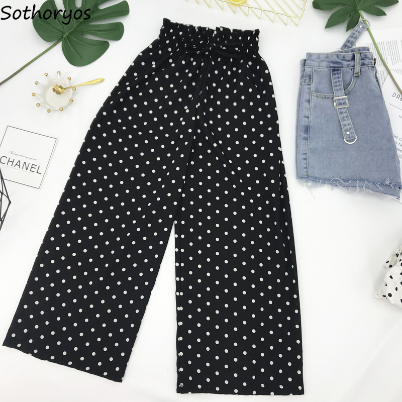 Pants Women Spring New 2019 Korean Style Loose Leisure Trendy Elegant All-match Womens Clothing High Quality Students Simple