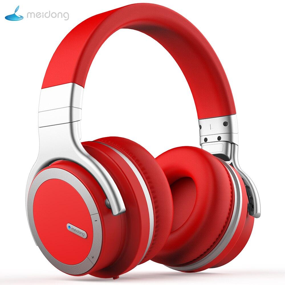 Meidong E7MDPRO WirelessHeadphones Bluetooth Cancelamento de Ruído Ativo Fones De Ouvido com microfone para telefone 30 H tempo da música fone de Ouvido