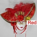 carnival Italy Masquerade masks handmade colored drawing hat full improper face mask masked ball costume party Performing props