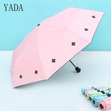 YADA Charms Flower & Four Leaves Umbrella Rain Women uv High Quality For Brand Windproof Children Umbrellas YS226