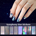 2017 New 8pcs Nail Art Sticker Vinyls Irregular Aurora Image Manicure Beauty DIY Stickers Nail Art Decoration Tools
