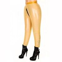 Надувные латекс Legggings сексуальная латекс фетиш Брюки для девочек длинные Trouseres