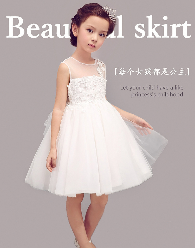 Aliexpress.com : Buy White wedding dresses for little girl ...