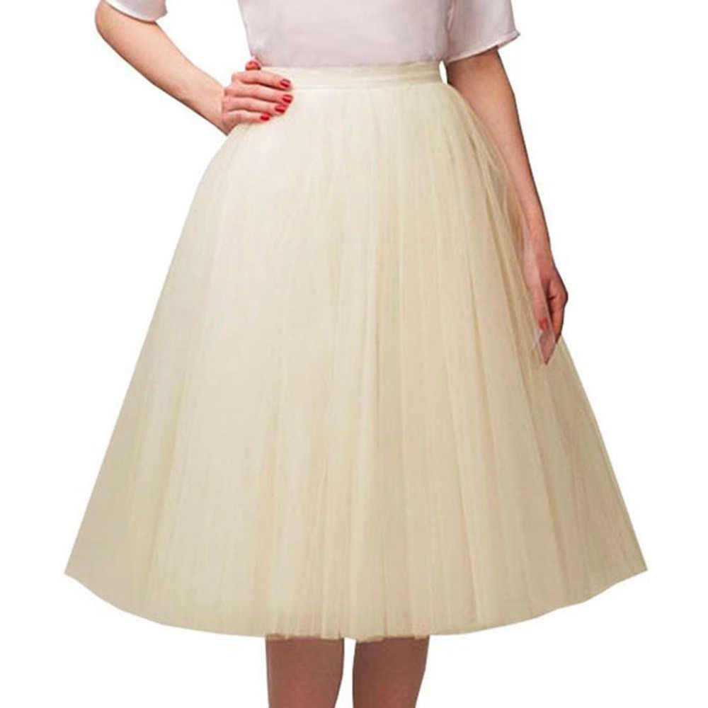 Длинная фатиновая юбка для женщин летняя эластичная пачка многослойная