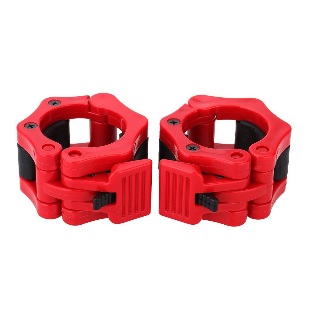 New Sale 2 Olympic Standard jaw lock necklaces barbell dumbbell necklaces weighs lock cufflink lock 2pcs red