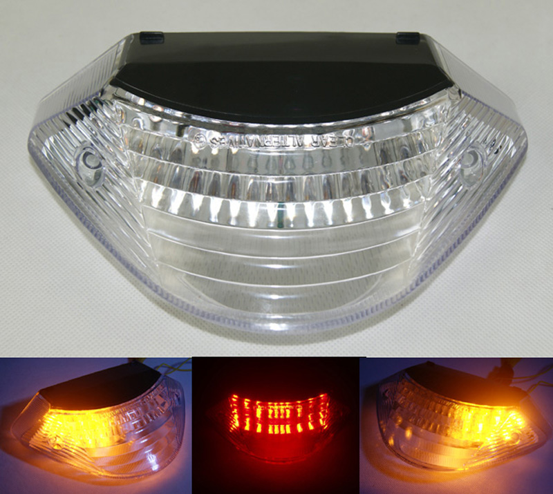 Prix pour Pour HONDA Hornet CB900F 2002 2003 2004 2005 2006 2007 E-Marque Arrière Tail Lumière De Frein Clignotants Intégrés LED Lumière