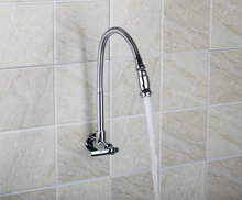 Одной Ручкой Настенный хром Кухня поворотный кран RQ8551-3 Ванная комната латунь водопроводной воды судно раковина кран