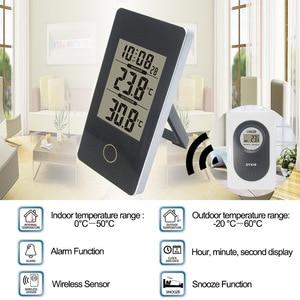 Image 5 - Digitale Weerstation Draadloze Sensor Hygrometer Thermometer multifunctionele LED desktop Tafel klok Alarm