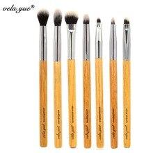 vela.yue Premium Makeup Brush Set 7pcs Eyes Shadow Smudge Blending Contour Eyeliner Eyebrow Makeup Tools Kit