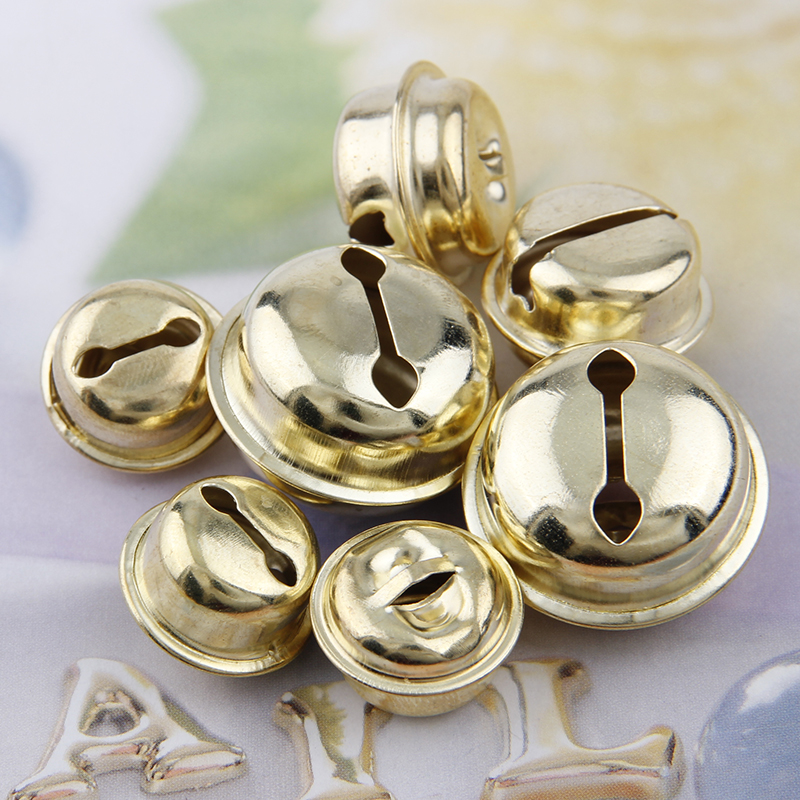 New 10pc 18mm Colored Gold Bells Pendants Hanging Christmas Tree Ornaments Christmas Decorations DIY Crafts Accessories
