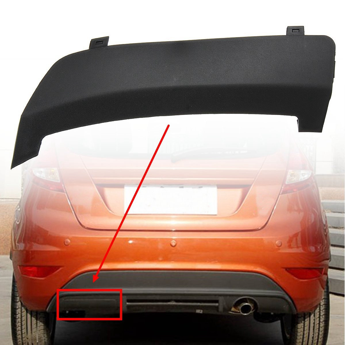 Rear bumper tow towing eye hook cover cap for ford fiesta mk7 2008 2016