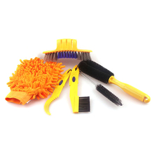 6 pcs/set Bike Chain Cleaner Portable Bicycle Cleaning Tool Kit Bicycle Tire Brush Brake Disc Cleaner Brushes Washing Set wd 40 bike pack 6 pcs total bicycle cleaner sprayer 500ml
