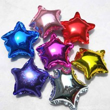 Aluminium Foil Star Shape Helium Balloons For Birthday Party