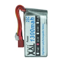 XXL Power Wire on One Side Universal 11.1V RC Lipo Battery 3S 1300mah 25C MAX 50C for RC Car Airplane Helicopter Toy QAV 250