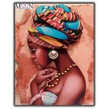 Алмазная вышивка «красивая леди» «сделай сам» темная кожа алмазная