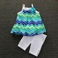 , 5sets/L 2-6yrs Baby Girl's YOUGLAND dress & Legging Set, sleeveless dress and pants,girls clothes set for summer