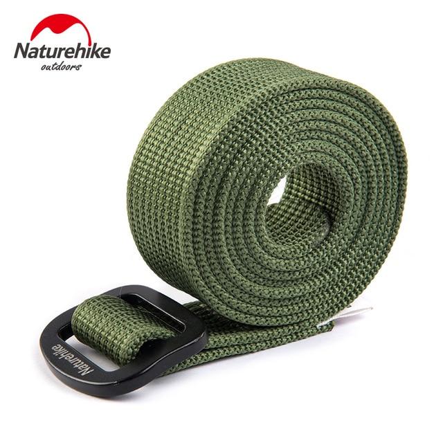 NatureHike Waist Belt Male Nylon Military Tactical Belts Women Sport Outdoor waist support Quick Dry Aluminum alloy buckle