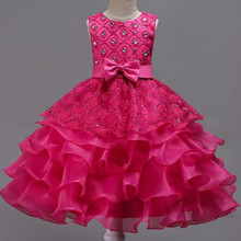 New Christmas Girl Dress Upscale 3-14 yrs princess Dresses girls Wedding Sequins Embroidered Formal Girl Birthday Party Dress все цены