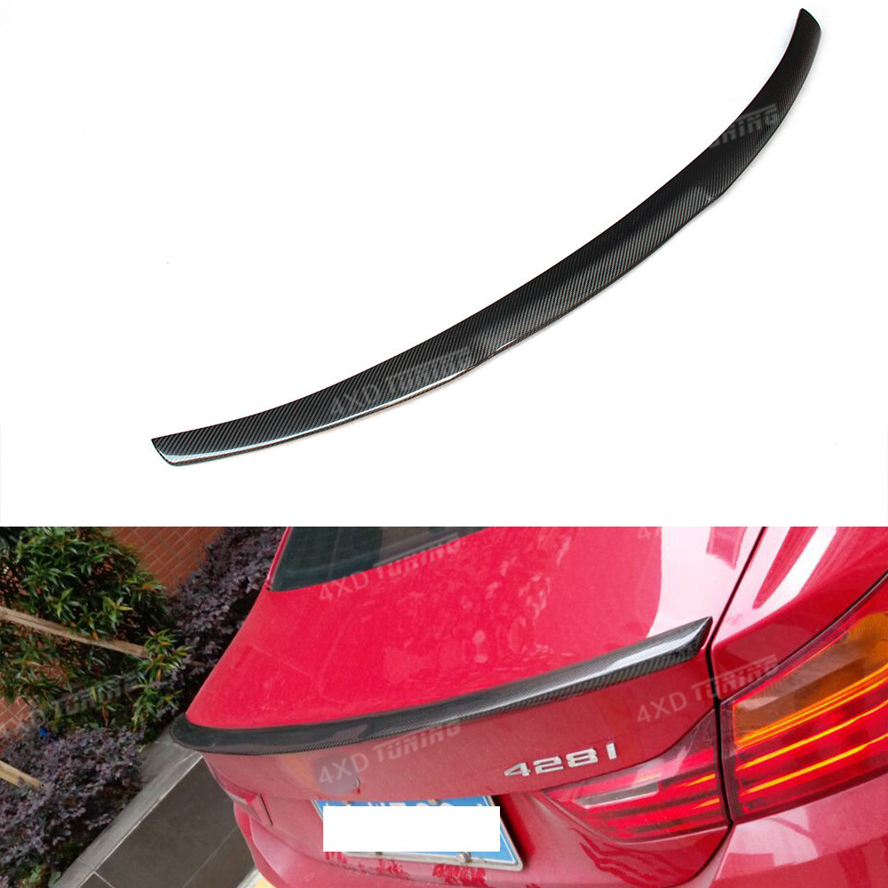 For BMW F32 Spoiler M4 Style 4 Series F32 420I 428I 435I Carbon Fiber Rear Trunk Spoiler Wing Coupe 2- Doors 2014 2015 2016 - UP mercedes carbon fiber trunk amg style spoiler fit for benz e class w207 2 door 2010 2015 coupe convertible vehicles