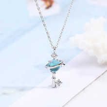 925 Sterling silver pendant necklace The blue sky Women's fashion necklace jewelry wholesale finding the blue sky