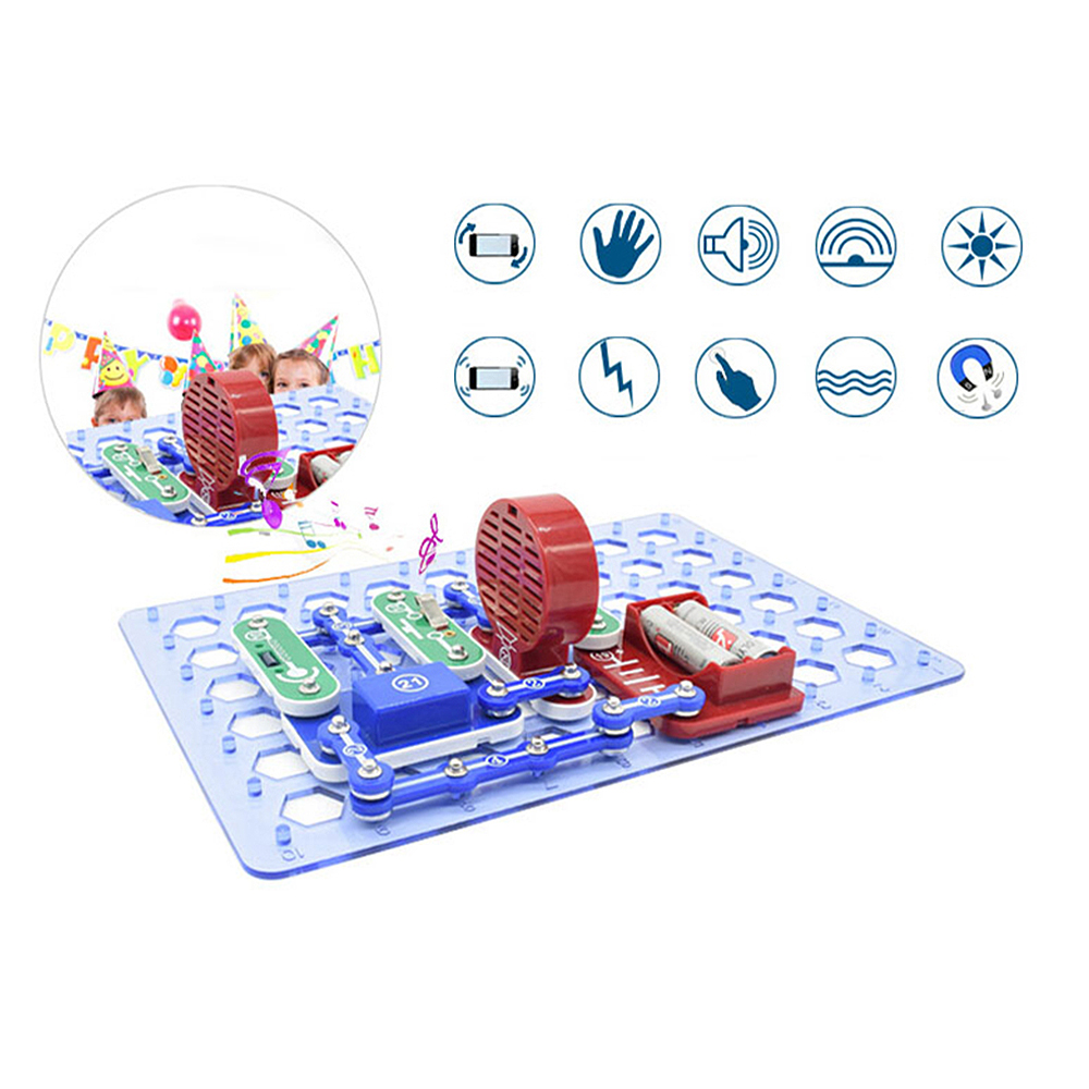 Circuits Electronics Discovery Kit Electronic Building Blocks Assembling Toys for Kids Educational Science Experiment Toys