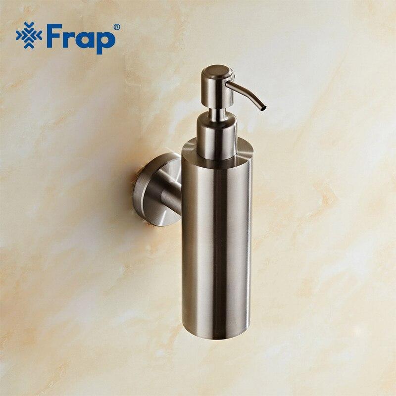 FRAP Нержавеющаясталь жидкое мыло для рук бутылку настенный Ванная комната лосьон бутылки насоса многофункциональная раковина моющее сред...
