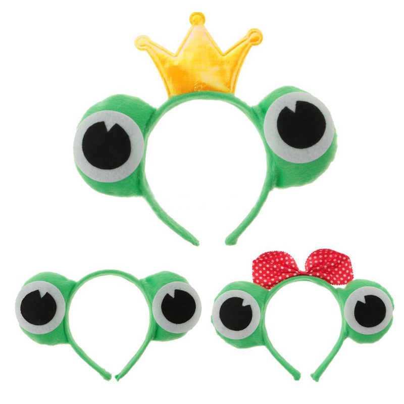Animal Ear Headband Frog Cosplay Hairbands   Headwear   Carnival Children Birthday Party Halloween