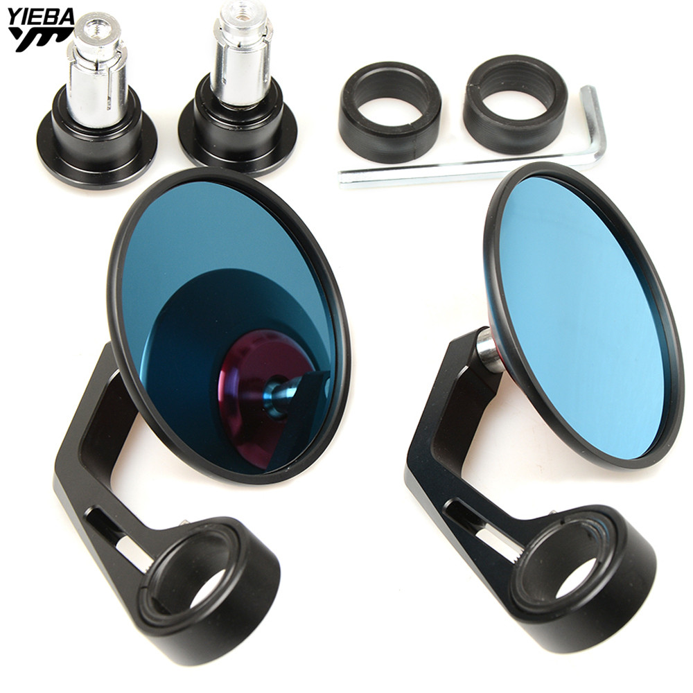 22MM Hand Bar End Rear Mirrors Motorcycle Side Rearview Mirror for YAMAHA YZF R25 R15 R6 R125 kawasaki z750 Z800 FZ8 FZ1 FZ6R mfs motor motorcycle part front rear brake discs rotor for yamaha yzf r6 2003 2004 2005 yzfr6 03 04 05 gold