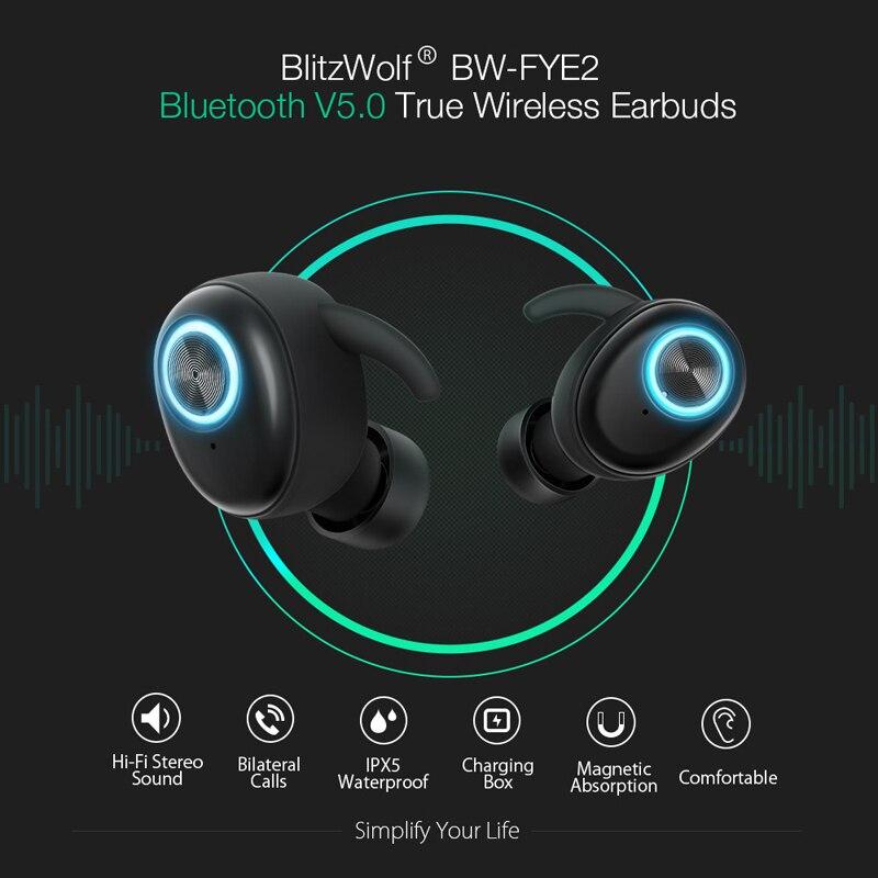 Auriculares Bluetooth, Auriculares Inalámbricos Bluetooth Sonido Estéreo Bilaterales In-Ear Bluetooth 5.0 con Caja de Carga Portátil - 3