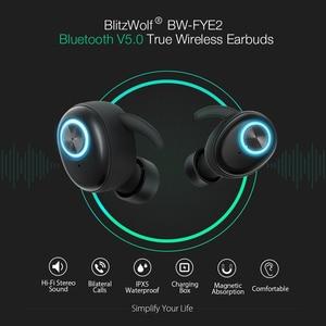 Image 3 - Беспроводные наушники Blitzwolf, TWS, bluetooth 5,0, Hi Fi, стереозвук, двусторонний звонок, портативные спортивные мини наушники, гарнитура