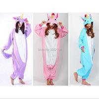 Goedkope Nieuwe Eenhoorn Pyjama Animal Cosplay Kostuum Unisex Adult Onesie Nachtkleding Hot Koop Animal cosplay pajama, Gratis verzending
