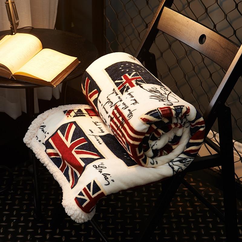 Chaud Polaire Drapeau Couvertures Sur Le Lit 100% Polyester Flanelle Couvertures Pour Adultes Multi-taille Mode Jeter Couvertures Pour canapé