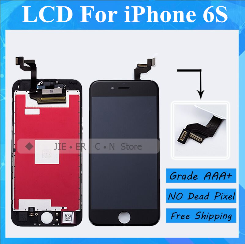Grade AAA No Dead Pixel For iPhone 6s LCD Display with Good 3D Touch Screen Digitizer Assembly Black and White Free DHL Shipping 5pcs lot grade aaa no dead pixel for iphone 6 plus lcd display with touch screen digitizer assembly black