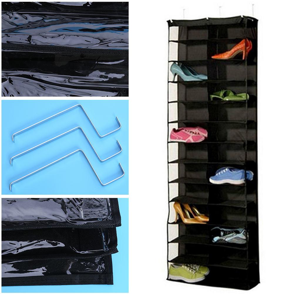 26 Pockets Shoes Storage Bags Space Saver Organizer Foldable ...