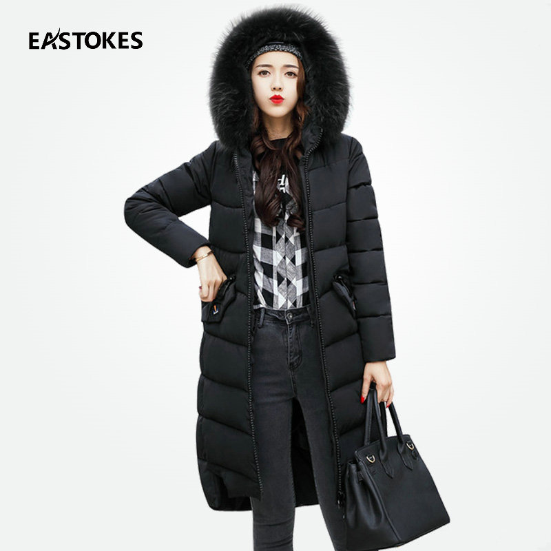 Aliexpress.com : Buy Women Winter Long Coats With Large Fur Collar ...