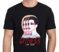KATY PERRY WITNESS TOUR 2018 Men's Black T-Shirt Size S-to-3XL Hot Cheap Men'S Print Casual T Shirt Men Brand Top Tee
