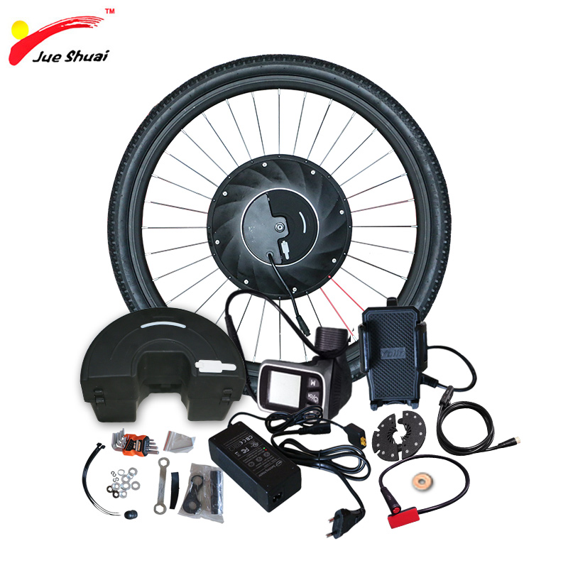 iMortor Electric Bike Conversion Kit with Battery ebike Hub Motor Wheel Controller Motor for Bicycle E bike Conversion Kit